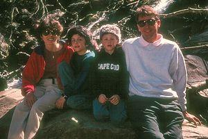 Family hiking at Shenandoah National Park