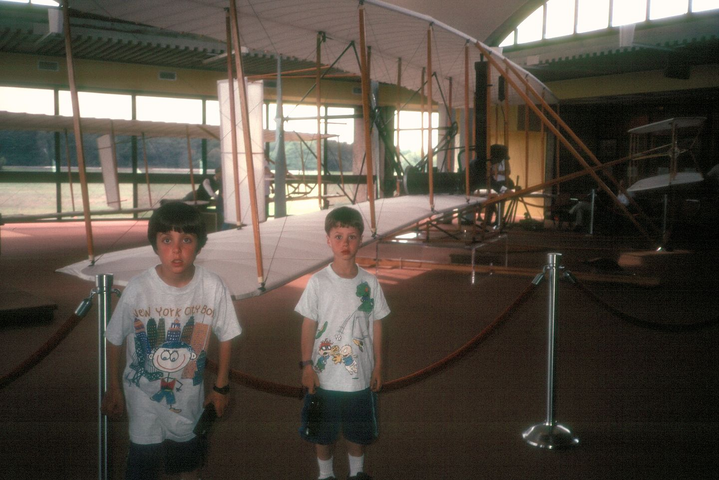 Boys in the Wright Brothers Visitor Center