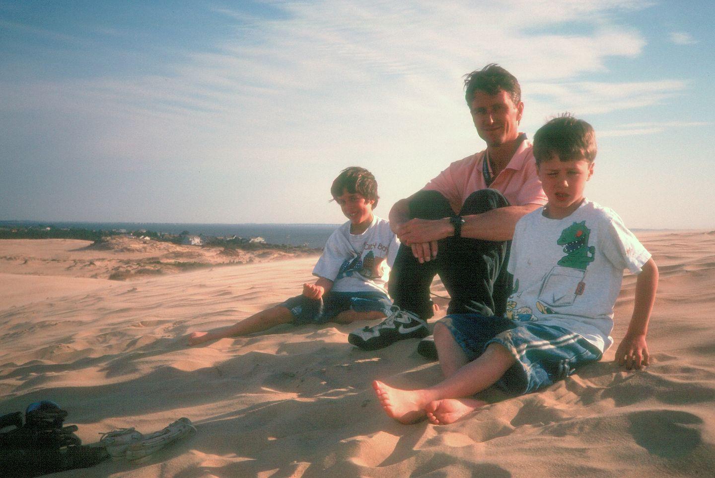 Herb and boys on Jockey Ridge dune