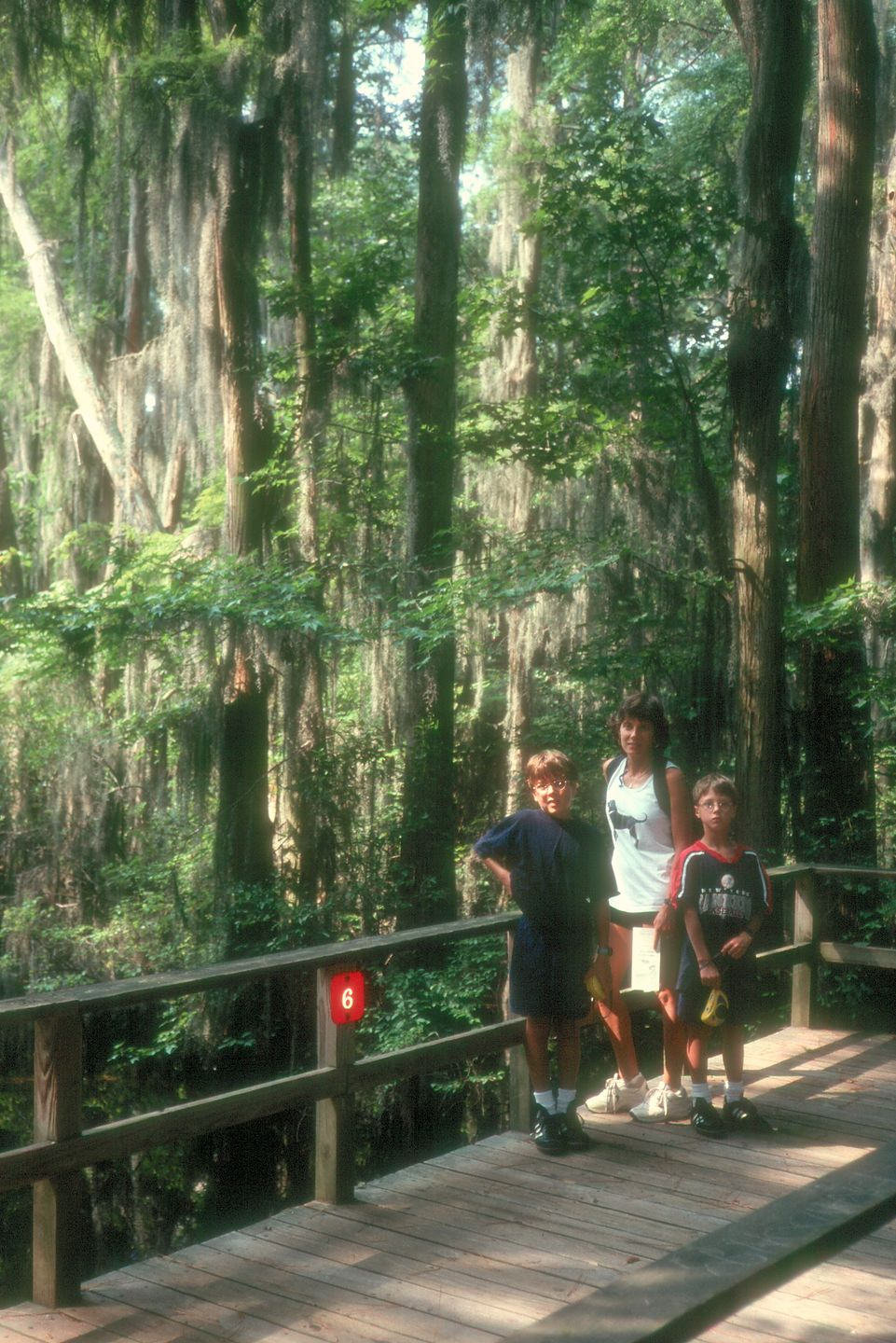 Lolo and boys in swamp