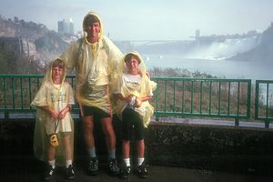 Herb and boys at Niagara Falls