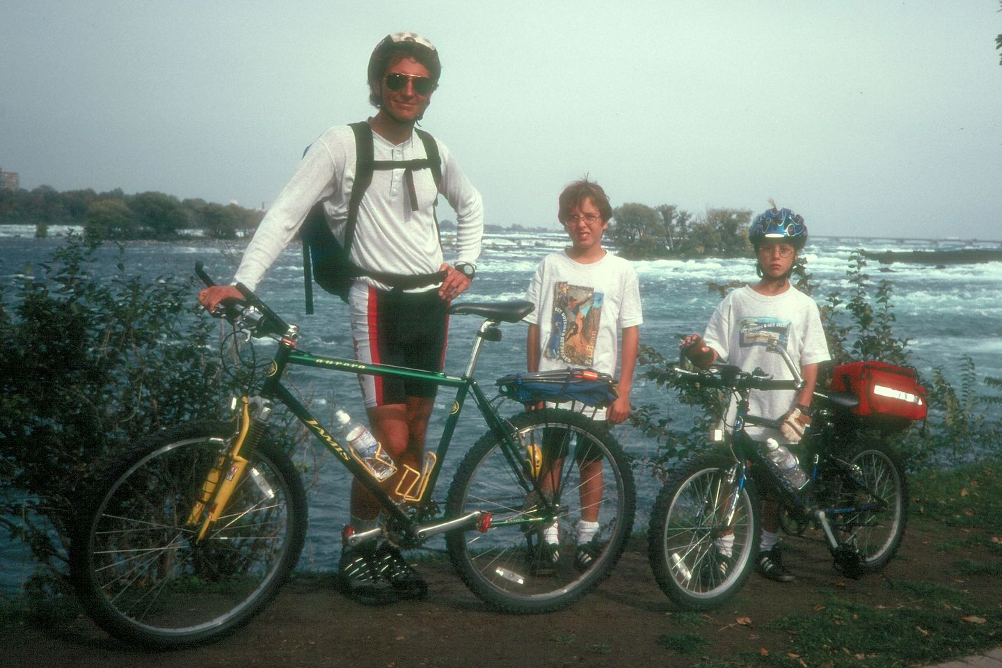 Herb and boys on bikes