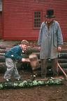 Tommy splitting wood