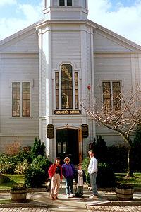 Andrew's photo of gang in front of Seamen's Bethel