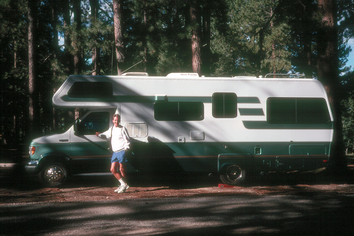 Herb by his Lazy Daze in the North Rim Campground