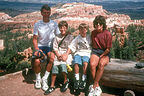 Family along Rim Trail at Bryce Canyon