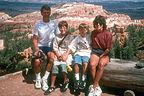 Family along Rim Trail at Bryce Canyon