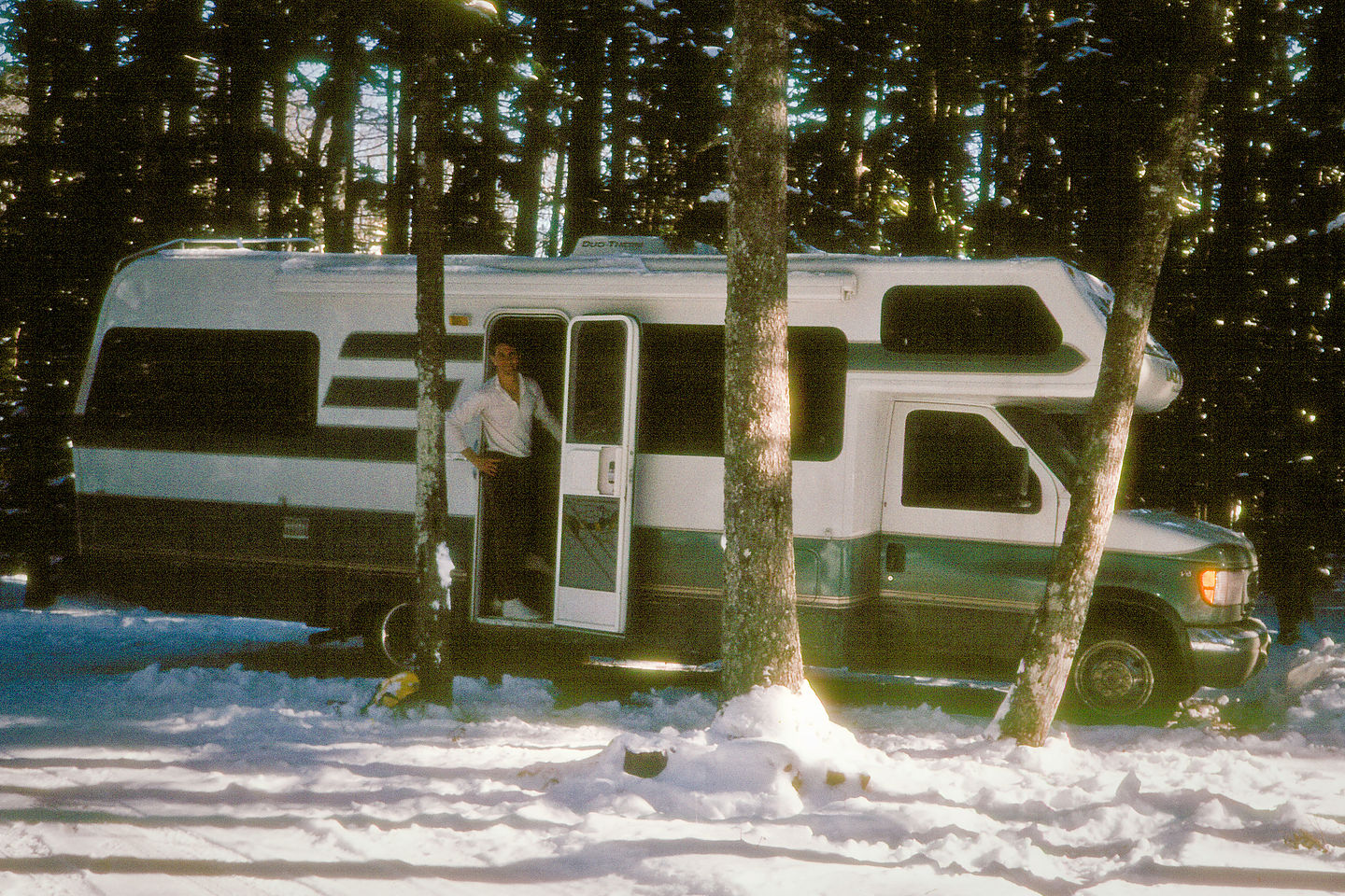 Herb with Lazy Daze in Maine winter