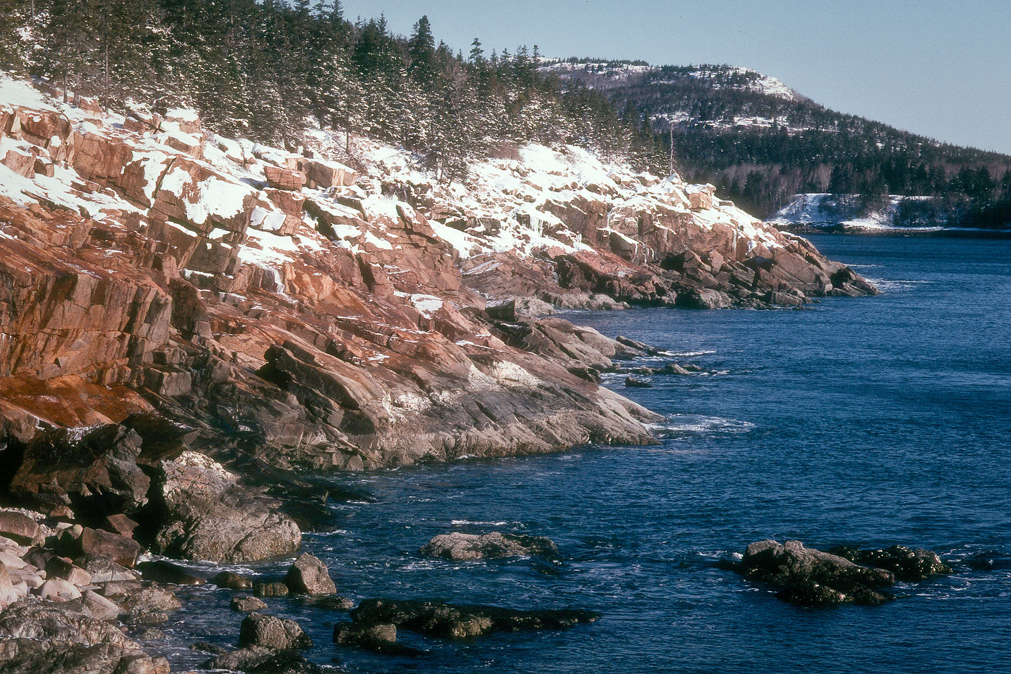 Snowy Maine Coast
