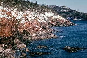 Snowy Maine Coast