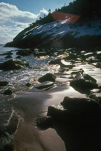 Sandy Beach in Winter