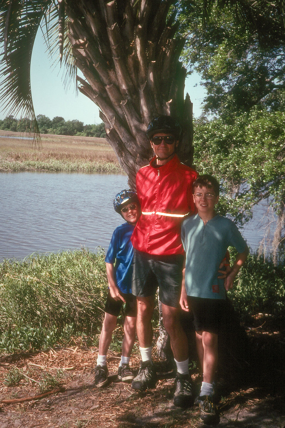Herb and boys on rest from bike ride