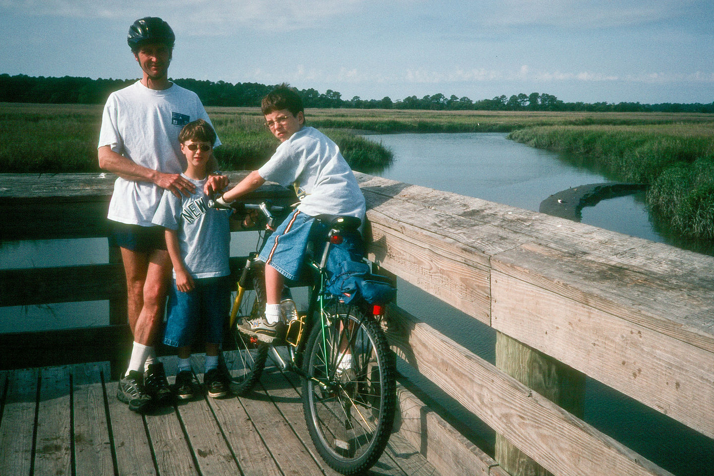 Herb with boys biking