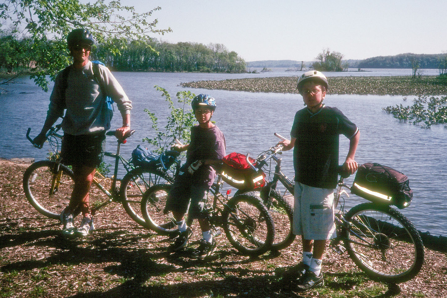 Herb and boys on Mt Vernon bike trail