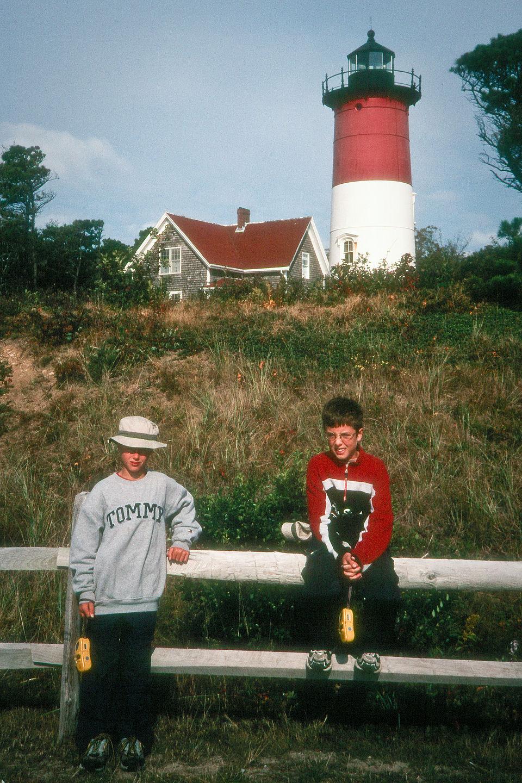 Boys with lighthouse