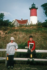 Boys with lighthouse
