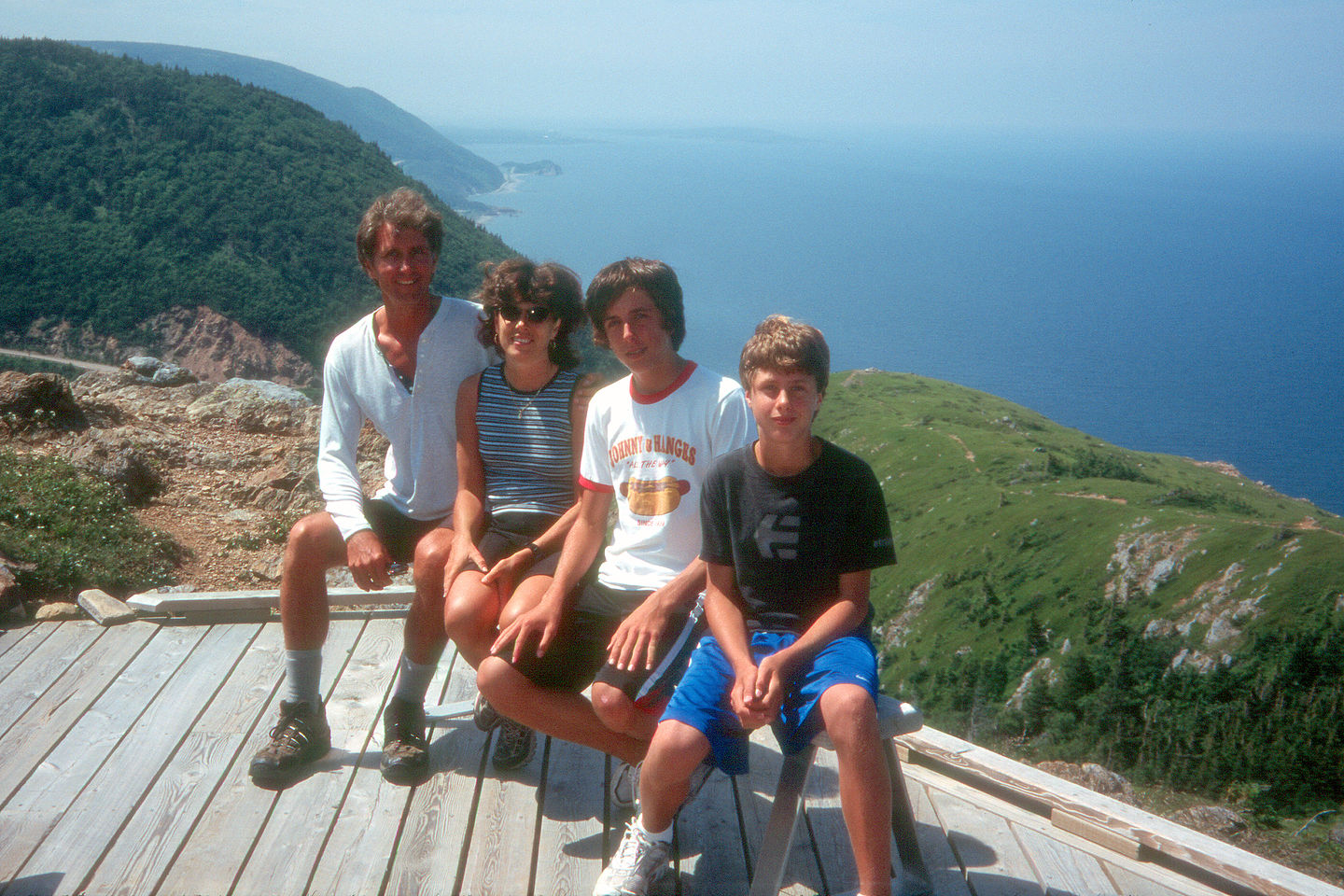 Family at end of Skyline Trail