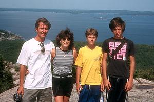 Family on Summit