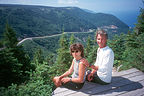 Herb and Lolo looking out over the Cabot Trail