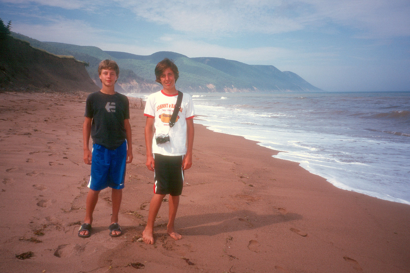 Boys on beach at Cabot Landing