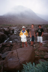 Herb and Boys on Tablelands hike