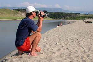 Herb videotaping at Broom Point