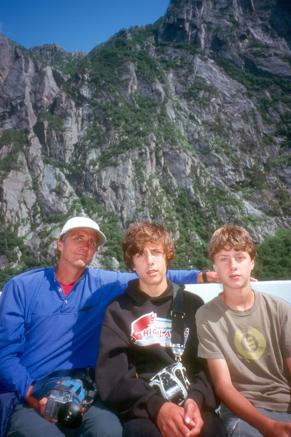Herb and the boys on Western Brook Pond boat tour