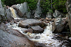 Waterfalls in campground