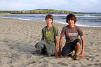 Boys on Cape Ray Beach