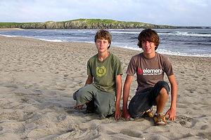 Boys on Cape Ray Beach