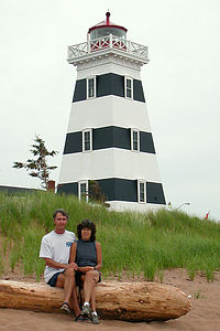 Herb and Lolo at West Point Lighthouse