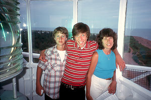 Lolo and Boys at top of lighthouse