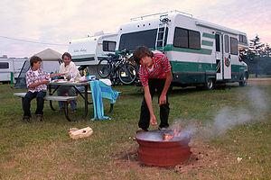 Camping in Cedar Dunes
