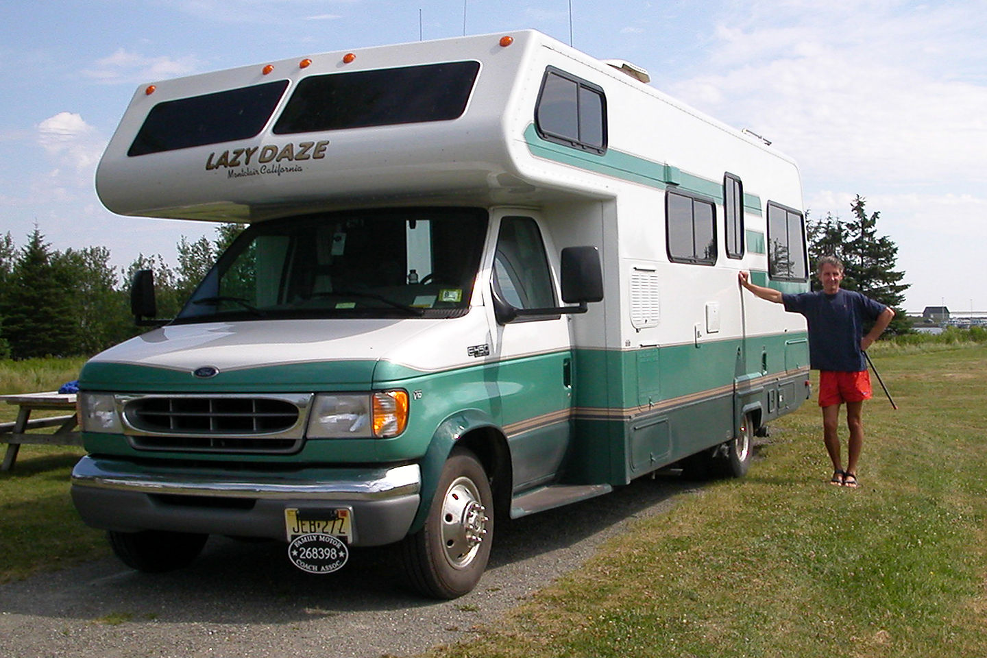 Herb and his trusty RV at the campsite