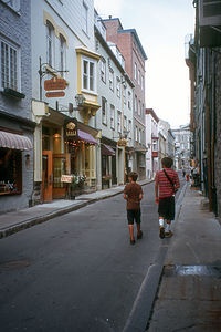 Boy's on streets of Quebec City