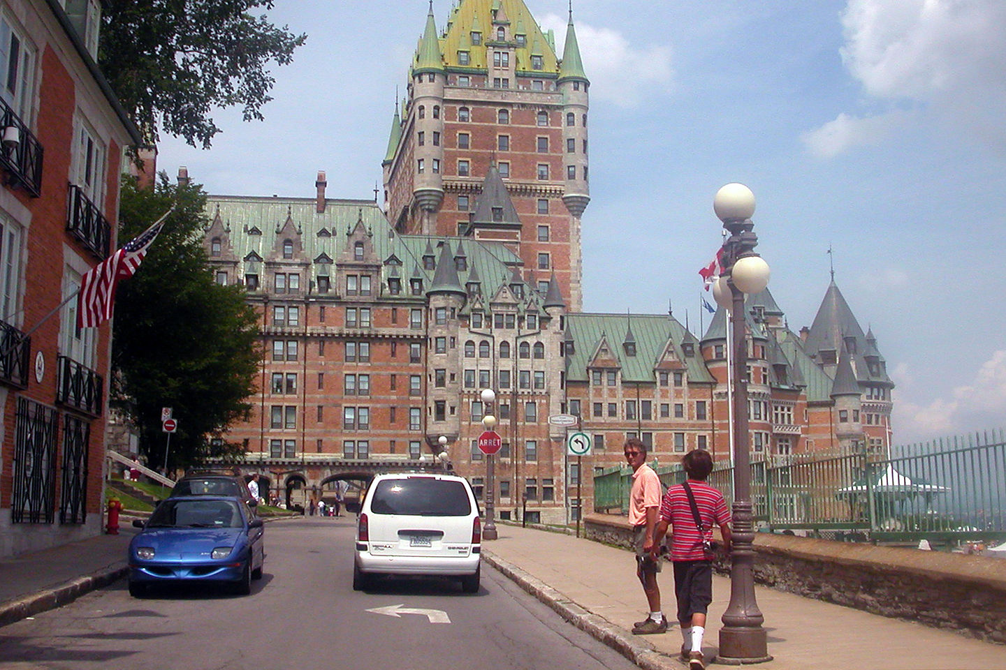 Herb and Andrew by Chateau Frontenac