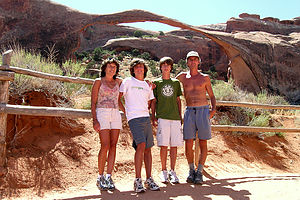 "Family in front of Landscape Arch ""Part II"""