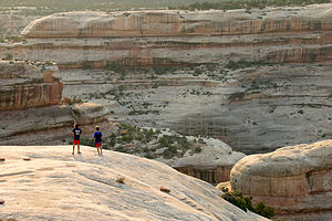 Boys on Sipapu Bridge Hike