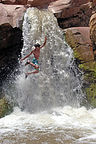 Tommy getting waterfall big air