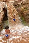 Andrew getting waterfall big air