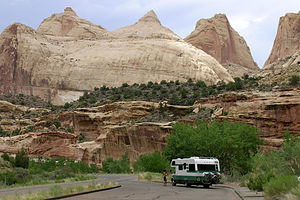 Lazy Daze on entrance to Capitol Reef