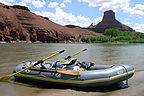 Trusty Avon inflatable on the Colorado River