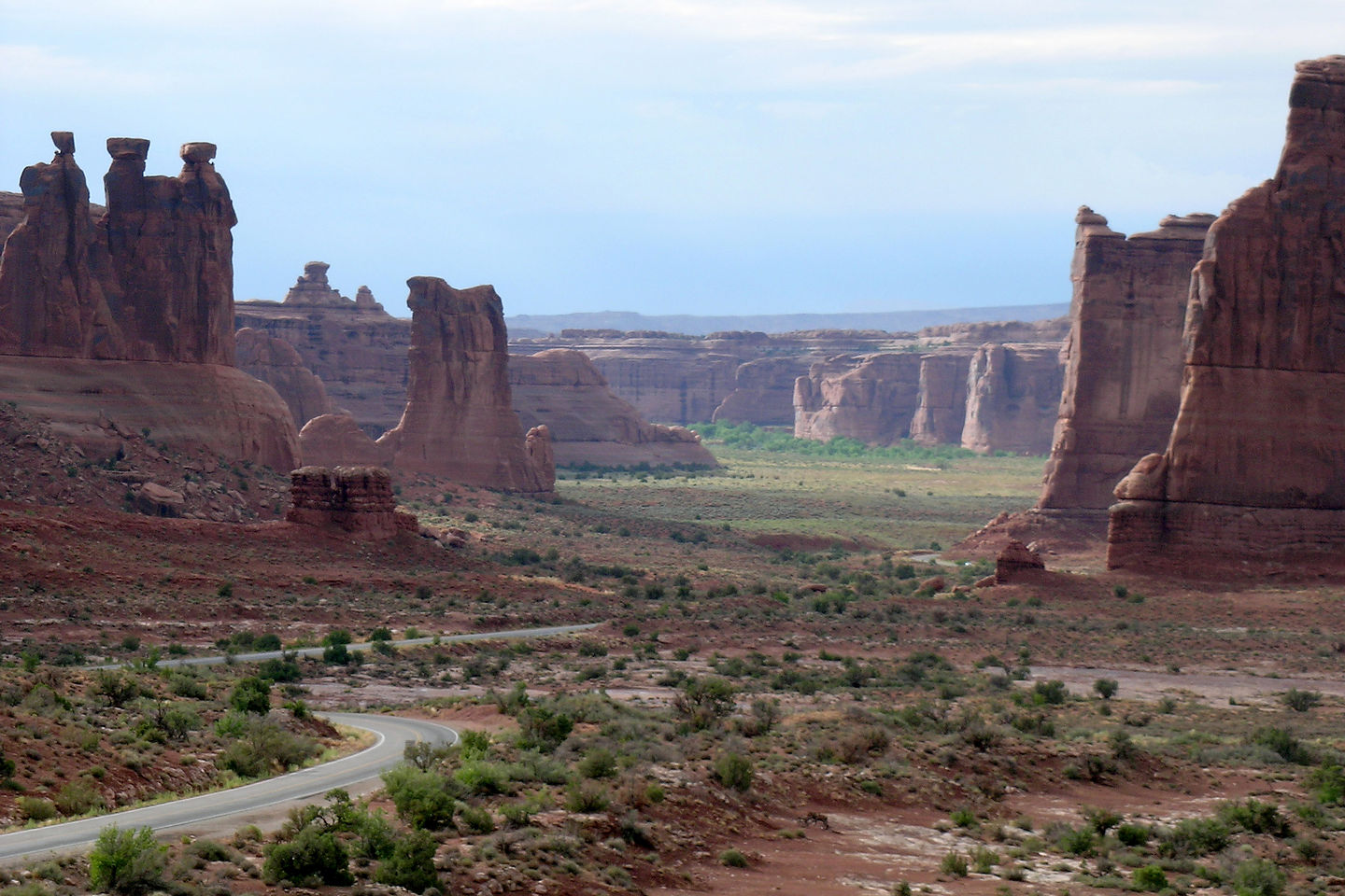 Arches National Park after the thunderstorm