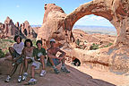 Family portrait at Double O Arch