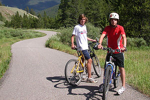 Boys on Vail Pass to Frisco