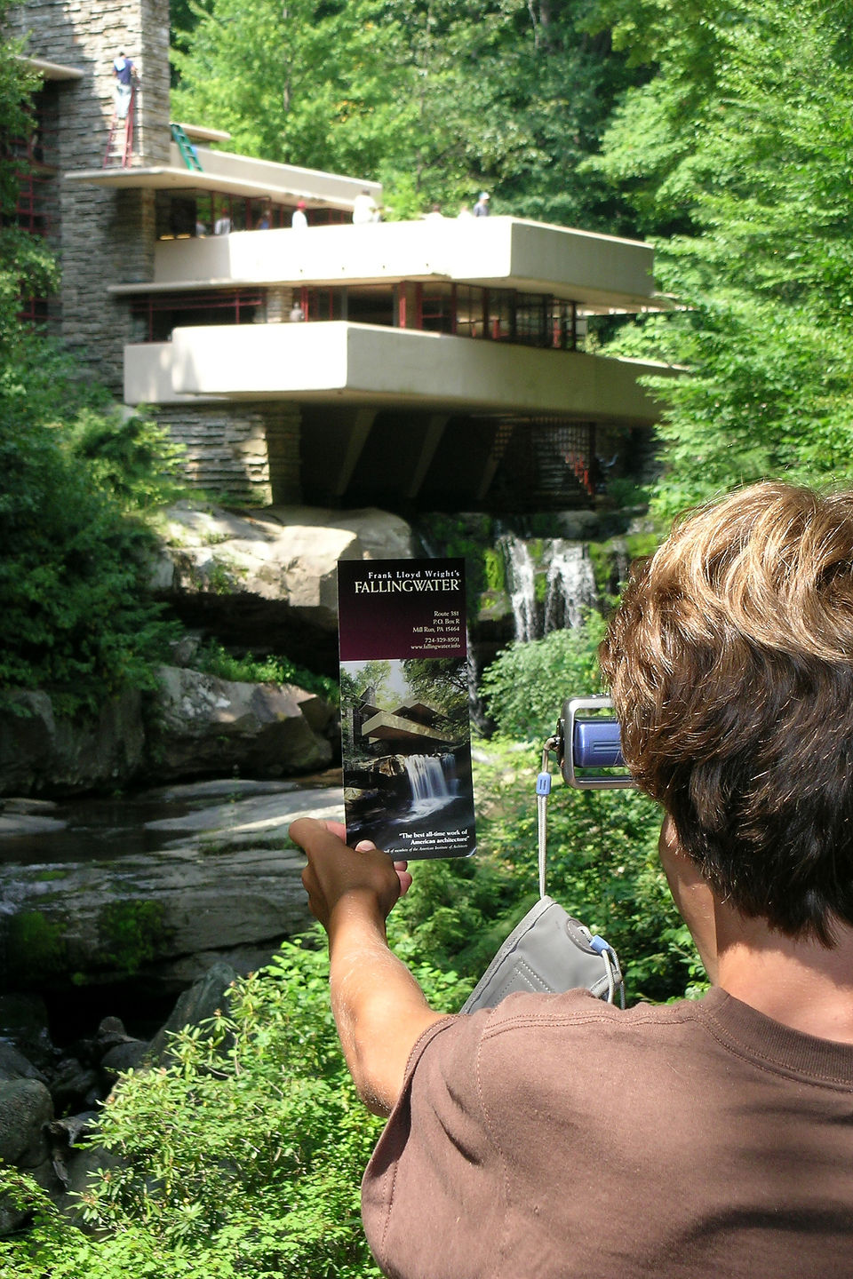 Tommy photographing Fallingwater
