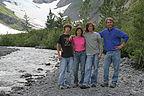 Family on Byron Glacier Trail
