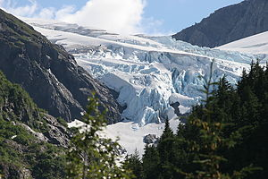 Middle Glacier view from campsite