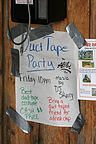 Duct tape party at Homer