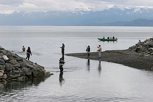 Inlet to Homer's 'Fishing Hole'